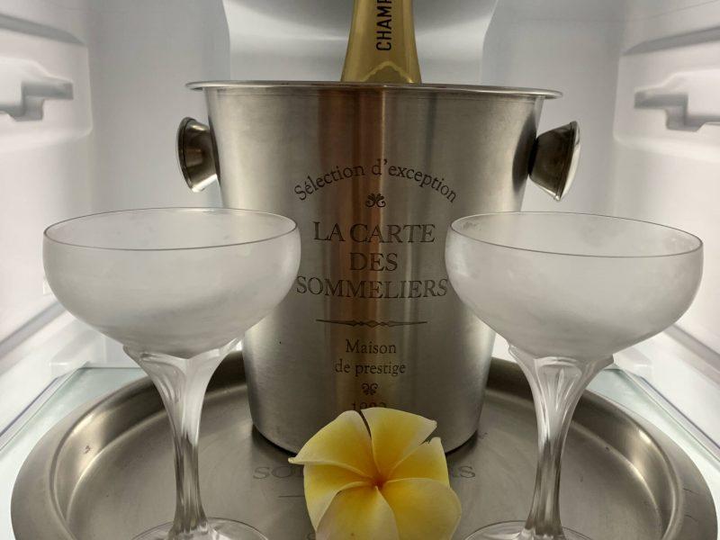 Option champagne, plateau de fruits, friandises à votre arrivée sur demande