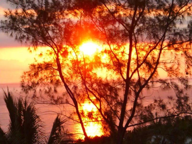 Coucher de soleil sur Veremer.